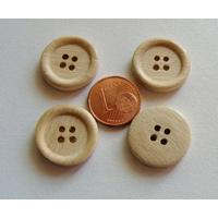 Perles BOIS BOUTONS ronds 18mm par 20 pcs