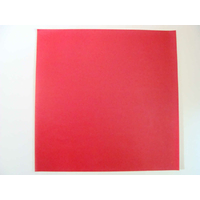 Simili cuir fin 30x30cm pour reliure cartonnage Rouge
