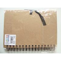 Album scrapbook carnet spiralé 40 feuilles A5 21x15cm Marron Kraft