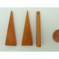 Pendentif BOIS Triangle Marron 41mm support à décorer par 10 pcs