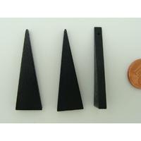 Pendentif BOIS Triangle Noir 41mm support à décorer par 10 pcs