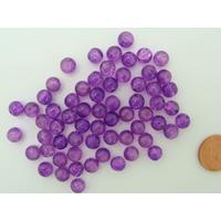 Perles verre Craquelé ronds 6mm VIOLET FONCE par 60 pcs