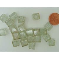 Perles verre Craquelé Cubes 8mm TRANSPARENT par 20 pcs