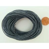 Fil Coton ciré GRIS FONCE 1mm en echeveau par 10 m