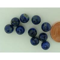 Perles Rondes 6mm PIERRE Bleu Beige Lapis-lazuli par 10 pcs