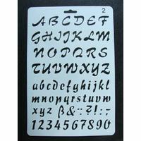 Pochoir Alphabet Chiffre Ponctuation plastique 1 planche 26x17cm