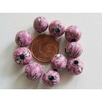Perles Rondes FIMO 8mm Violet par 20 pcs