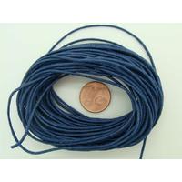 FIL Coton ciré BLEU FONCE 1mm en echeveau par 10m