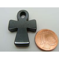 Pendentif Pierre Hématite Croix de vie égyptienne Ankh 29mm par 1 pc