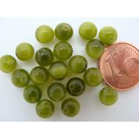 Perles verre Oeil de Chat rondes 6mm Vert Olive par 20 pcs