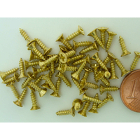 Petites Vis 7mm métal couleur dorée par 50 pcs