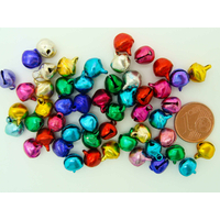Grelots clochettes 9mm mix couleurs par 50 pcs