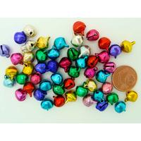 Grelots clochettes 9mm mix couleurs par 50 pcs