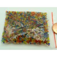 Rocaille 1,5 à 2mm argenté Mélange couleur MIX11 par 20 grammes