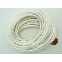 Fil polyester ciré Blanc 3mm en écheveau de 5 mètres