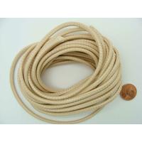 Fil polyester ciré Beige 3mm en écheveau de 5 mètres