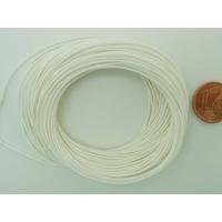 Fil polyester ciré Blanc 0,8mm en écheveau de 10 mètres