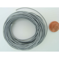 Fil polyester ciré Gris 0,8mm en écheveau de 10 mètres
