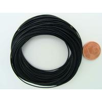 Fil polyester ciré Noir 0,8mm en écheveau de 10 mètres