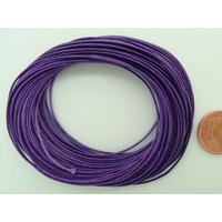 Fil polyester ciré Violet 0,8mm en écheveau de 10 mètres