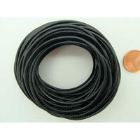 Fil polyester ciré Noir 1,5mm en écheveau de 10 mètres
