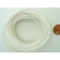 Fil polyester ciré Blanc 1,5mm en écheveau de 10 mètres