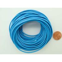 Fil polyester ciré Bleu 1,5mm en écheveau de 10 mètres