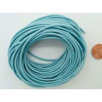Fil polyester ciré Bleu Clair 1,5mm en écheveau de 10 mètres