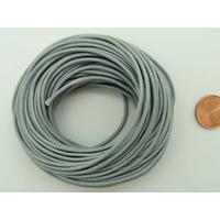 Fil polyester ciré Gris 1,5mm en écheveau de 10 mètres