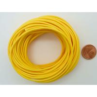 Fil polyester ciré Jaune 1,5mm en écheveau de 10 mètres