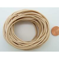 Fil polyester ciré Marron Clair 1,5mm en écheveau de 10 mètres