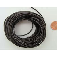 Fil polyester ciré Marron Foncé 1,5mm en écheveau de 10 mètres