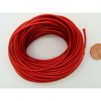 Fil polyester ciré Rouge 1,5mm en écheveau de 10 mètres