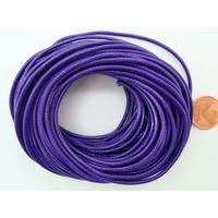 Fil polyester ciré Violet 1,5mm en écheveau de 10 mètres