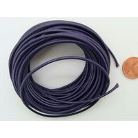 Fil polyester ciré Violet Foncé 1,5mm en écheveau de 10 mètres