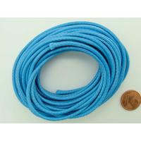 Fil polyester ciré Bleu 2,3mm en écheveau de 5 mètres