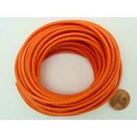 Fil polyester ciré Orange 2,3mm en écheveau de 5 mètres