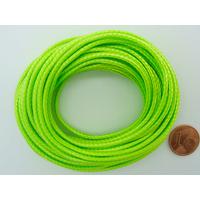 Fil polyester ciré Vert Clair 2,3mm en écheveau de 5 mètres