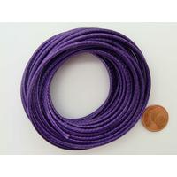 Fil polyester ciré Violet 2,3mm en écheveau de 5 mètres