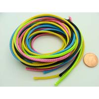 Fil polyester ciré Mix 5 couleurs 2,3mm en écheveau de 5 mètres