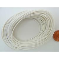 Fil polyester ciré Blanc 1mm en écheveau de 10 mètres