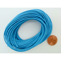 Fil polyester ciré Bleu 1mm en écheveau de 10 mètres