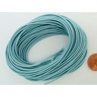 Fil polyester ciré Bleu Clair 1mm en écheveau de 10 mètres