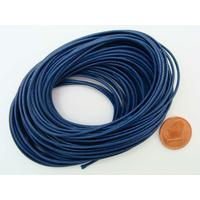 Fil polyester ciré Bleu Foncé 1mm en écheveau de 10 mètres