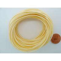 Fil polyester ciré Crème 1mm en écheveau de 10 mètres