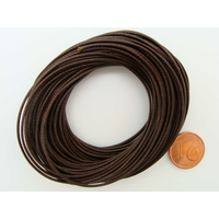 Fil polyester ciré Marron 1mm en écheveau de 10 mètres