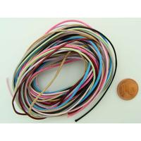 Fil polyester ciré Mix couleurs 1mm en écheveau de 10 mètres