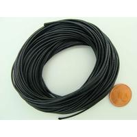 Fil polyester ciré Noir 1mm en écheveau de 10 mètres