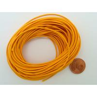 Fil polyester ciré Orange 1mm en écheveau de 10 mètres