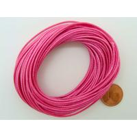 Fil polyester ciré Rose Violet 1mm en écheveau de 10 mètres